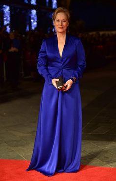 Looks inspiradores por Meryl Streep. Lindo azul by Lanvin.