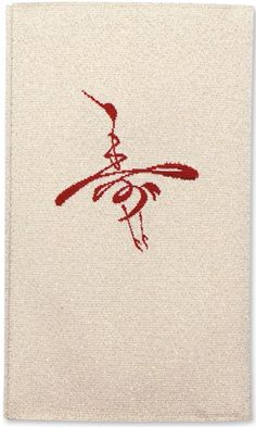 """寿 The Chinese character Shou, meaning """"Long Life"""", in the form of a flying crane, the symbol of longevity in Chinese culture"""
