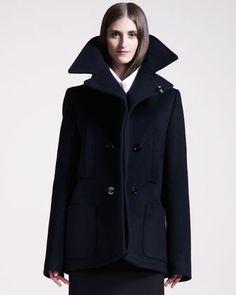 Get in Season Coats: Exaggerated Pea Coat by Maison Martin Margiela at Bergdorf Goodman.