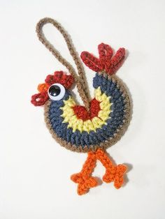 Ravelry: SeriouslyDaisies' Rooster for Connie Easter Crochet, Cute Crochet, Crochet Motif, Crochet Designs, Crochet Crafts, Crochet Yarn, Yarn Crafts, Crochet Flowers, Crochet Stitches