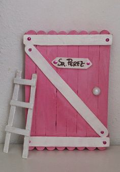 Baby Crafts, Craft Stick Crafts, Crafts For Kids, Arts And Crafts, Popsicle Stick Art, Fairy Doors, Fun Activities For Kids, Mothers Day Crafts, Wooden Crafts