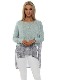 A POSTCARD FROM BRIGHTON Stella Super Natural Slub Knit Sweater In Aqua