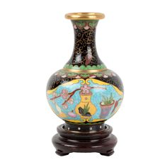 China 20. Jh. Emaille - A Chinese Cloisonne Enamel Bottle Vase - Chinois Cinese