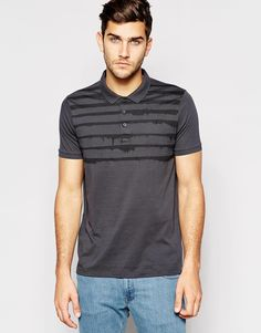 Image 1 of ASOS Polo Shirt In Jersey With Stripe