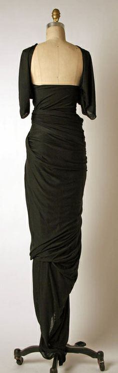 Madame Gres, 1935ish, Perfect back to on this dress, the rest of the angles are just as amazing.