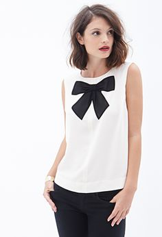 Zippered Bow-Front Top