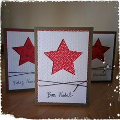 Idees de felicitacions de nadal fetes a mà.- Cerca amb Google Homemade Christmas Cards, Christmas Art, Homemade Cards, Handmade Christmas, Christmas Ideas, Karten Diy, Xmas Crafts, Greeting Cards Handmade, Diy Cards