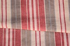 Wonderful old French ticking striped fabric ~ ideal for French country interior ~ www.textiletrunk.com