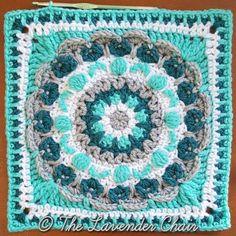 Chrysanthemum Mandala Square - Free Crochet Pattern Mandala Blanket CAL 2016- The Lavender Chair (12)
