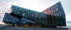 Harpa - the Reykjavik Concert Hall and Conference Centre in Iceland. 2013 Winner of Mies van der Rohe Award