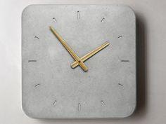 Wall Clock Clock of concrete Kitchen Clock by WertWerke on Etsy