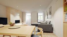 Casa em Lavra, Matosinhos : Salas de estar minimalistas por ASVS Arquitectos Associados