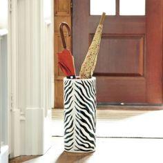 Zebra Umbrella Stand | Home Accessories | Ballard Designs #celebrateballard