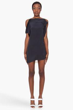 String Strap Silk Dress - Lyst