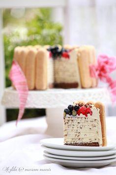 Diggin' on the Mille Crepe. This is Tiramisu.do u need a reason or occasion? Sweet Recipes, Cake Recipes, Dessert Recipes, Brownie Muffin Recipe, Crepes, Cannoli Cake, Charlotte Cake, Griddle Cakes, Crepe Cake