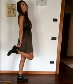 #dress by H&M #boots by Albano