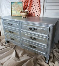 Platinum Dresser French Apartment Vintage Poppy by poppycottage, $545.00