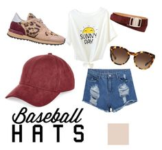 """Untitled #16"" by elviaalvarado on Polyvore featuring River Island, Valentino, Dolce&Gabbana, Salvatore Ferragamo, baseballcap and baseballhats"