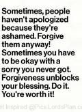 Always Forgive others because it unblocks the door of Blessings - Lords Plan -Best Inspirational Verses
