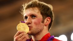 Champion: Jason Kenny kisses his sprint gold medal after a phenomenal victory over French world champion Gregory Bauge Olympic Team, Olympic Games, Cycling Events, Gold Medal Winners, Track Cycling, 2012 Summer Olympics, Famous Sports, Olympic Gold Medals