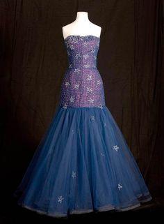 Murray Arbeid star sequin tulle gown