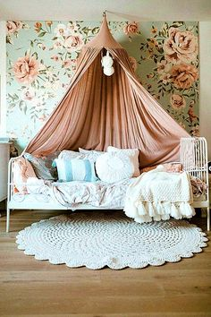31 Canopy Bed Ideas & Design for Your Bedroom girl room, canopy be. - 31 Canopy Bed Ideas & Design for Your Bedroom girl room, canopy bed - Bedroom For Girls Kids, Big Girl Bedrooms, Shabby Chic Bedrooms, Little Girl Rooms, Toddler Girl Rooms, Kids Room, Toddler Bedding Girl, Baby Girls, Girls Canopy