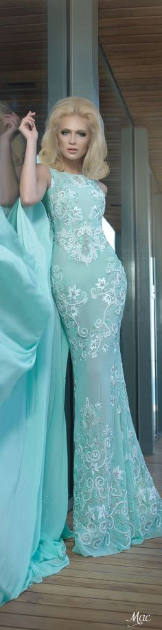 ℳiss Giana's Gorgeous Gowns ♛ ♛    Poppy Pea   Spring 2016 Haute Couture Charbel Karam