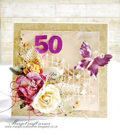 Special Birthday using products from http://scrapandcraft.co.uk/ #cards #crafts #Birthday #flowers Butterfly
