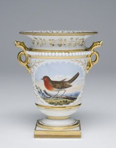 Vase Made by the Worcester porcelain factory, Worcester, England, 1751 - present Geography: Made in Worcester, England, Europe Date: c. 1830 Medium: Soft-paste porcelain with enamel and gilt decoration
