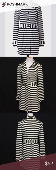 TULLE TOUR ROYALE STRIPED JACKET GUC Anthropologie Jackets & Coats Blazers