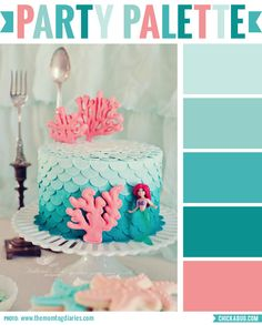 Party palette: Color inspiration for a mermaid party #colorpalette