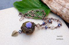 OOAK Sea Treasure  Steampunk wire wrapped Sea Urchin by Ianira