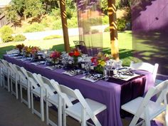 tablescapes for outdoor graduation party | This is an outdoor graduation party I decorated for a close friend ...