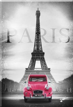 Ana Rosa, sandra1219: Pink Citroën 2CV and Eiffel Tour –...