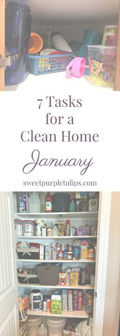 Do you have cleaning and organizing your home as a goal this year? Follow along as we tackle areas in our home that are often overlooked or forgotten. Our monthly list of 7 tasks includes a free printable checklist and weekly bonus tasks that will help you have a cleaner home this year!