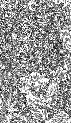 .Galerie de coloriages gratuits / William Morris ウィリアム・モリスの塗り絵② | Art,etc.