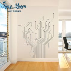 Aliexpress.com : Buy Circuit Tree Contempory Art Mural Wall Stickers Home Decor Stikers For Wall Decoration Let The Whole Room Full Of Technology DIY from Reliable sticker computer suppliers on King & Queen Home Decor  | Alibaba Group