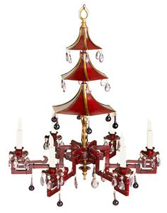 Painted pagoda chandelier from Chelsea House. Still want to do a room around a chinoiserie chandelier.Painted pagoda chandelier from Chelsea House. Still want to do a room around a chinoiserie chandelier. Decoration, Art Decor, Home Decor, Decor Ideas, Extravagant Wedding Cakes, Temple Bells, Chinoiserie Chic, Asian Decor, Home Lighting