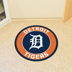 7b4f6e88e Detroit Tigers Win Victory Flag Roundel Mat is Made in the U. with nylon  carpet in true colors and non-skid recycled vinyl backing.