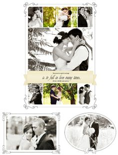 add a neat frame with your names on them instead and add multiple pictures in one.