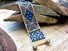 Amazon.com: Cherokee Blue Old Patterns Native America Bead Bracelet, Bead Loom Bracelet, Native America Jewelry, Native America Bead Jewelry: Handmade