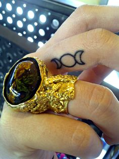 Wiccan Tattoos | tattoo triple goddess occult wicca wiccan ysl ring