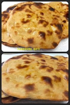 Tandoori roti also known as tandoor bread is a type of leavened bread baked in a clay oven called a tandoor, similar to naan. Tandoori Roti, Clay Oven, Homemade Recipe, Naan, Bread Baking, Breads, Pancakes, Vegetarian, Tasty