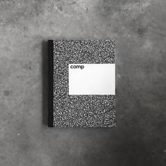Comp is an elegant, sophisticated, and long-lasting version of the classic composition notebook, created by designer Aron Fay.The notebook is available in line