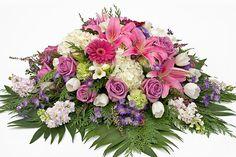 Pink and Purple casket spray in Point Pleasant, NJ Petal Street Flower Company