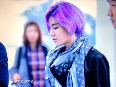 Sungjong's purple hair. He looks like an anime character....O.O
