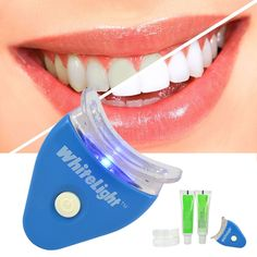 Lovely New White LED Light Teeth Whitening Tooth Gel Whitener Health Oral Care Toothpaste Kit For Personal