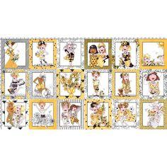 Bee Happy! Fabric Panel