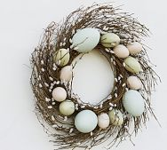 Faux Pussy Willow Easter Egg Wreath