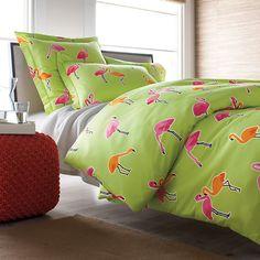 Flamingo Park Percale Comforter Cover/Duvet Cover & Sham   The Company Store